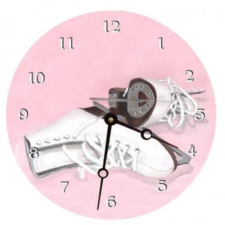 Lexington Studios 23-Round Clock:23114-LR Ice Skates 18 inch Round Clock by