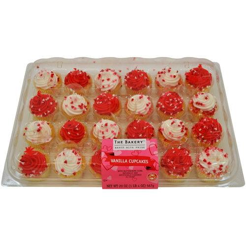 Freshness Guaranteed Mini Gold Valentine Cupcake Platter Walmartcom