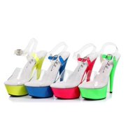 "609-ROXY 6"" Neon Stiletto Sandal"