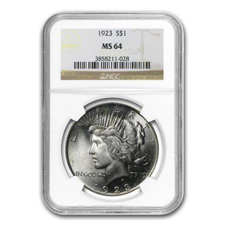 1923 Peace Dollar MS-64 NGC