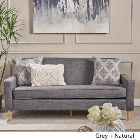 Christopher Knight Home Sawyer Mid Century Modern 3-seater Fabric Sofa by