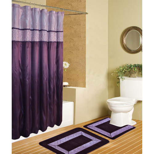rug and decor inc riviera 15 piece luxury shower curtain
