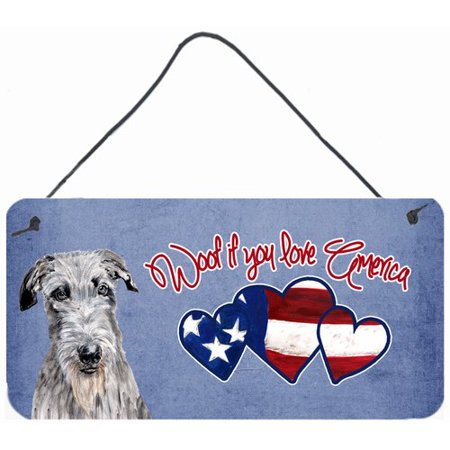 Caroline's Treasures Woof if you love America Scottish Deerhound by Sylvia Corban Painting Print Plaque