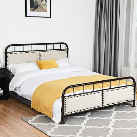 Costway Queen size Metal Bed Frame Platform Bed