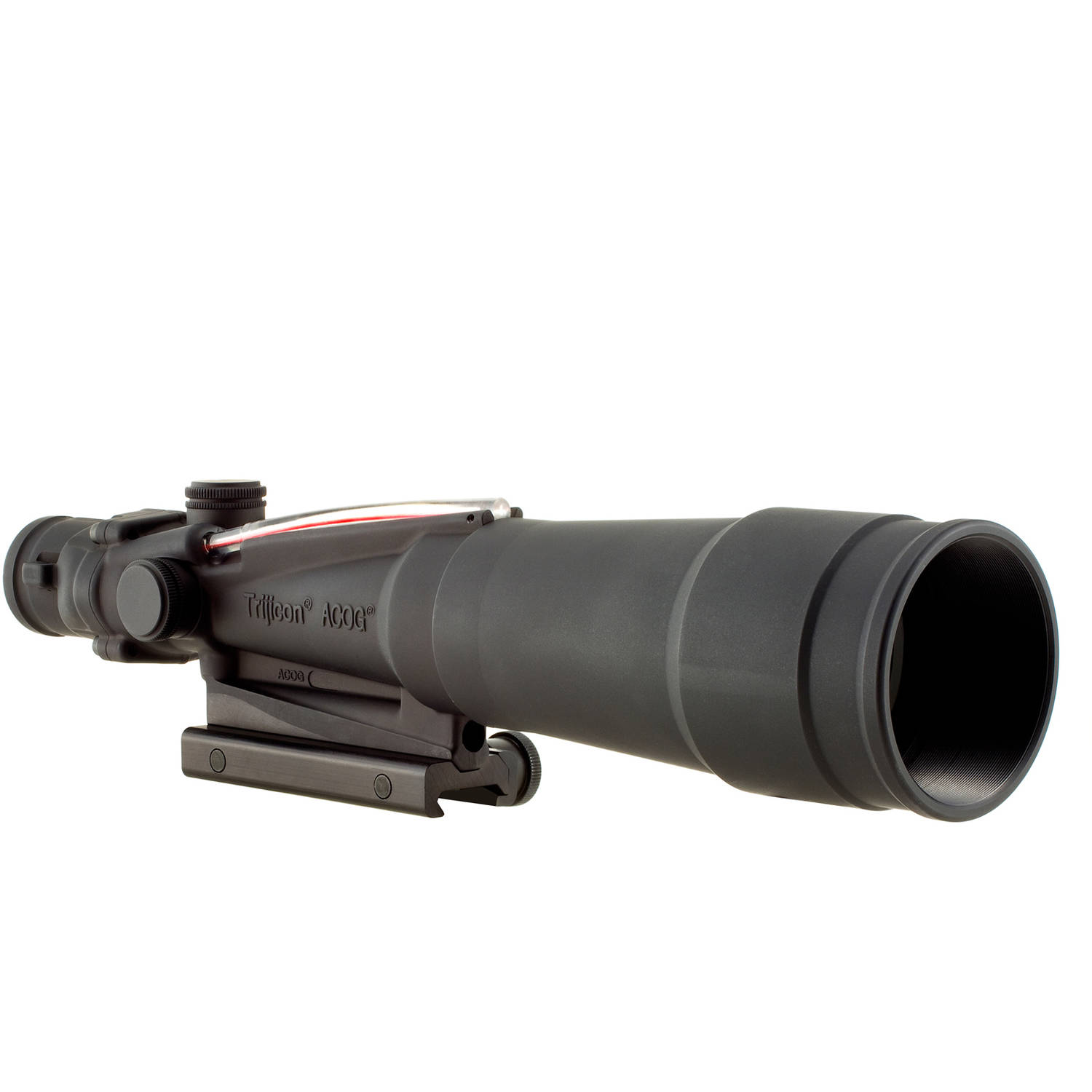 Click here to buy Trijicon ACOG Rifle Scope, 5.5X50, Red Chevron Reticle .308, Includes Flattop Adapter, Matte by Trijicon.