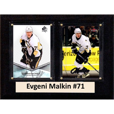 C&I Collectables NHL 6x8 Evgeni Malkin Pittsburgh Penguins 2-Card Plaque