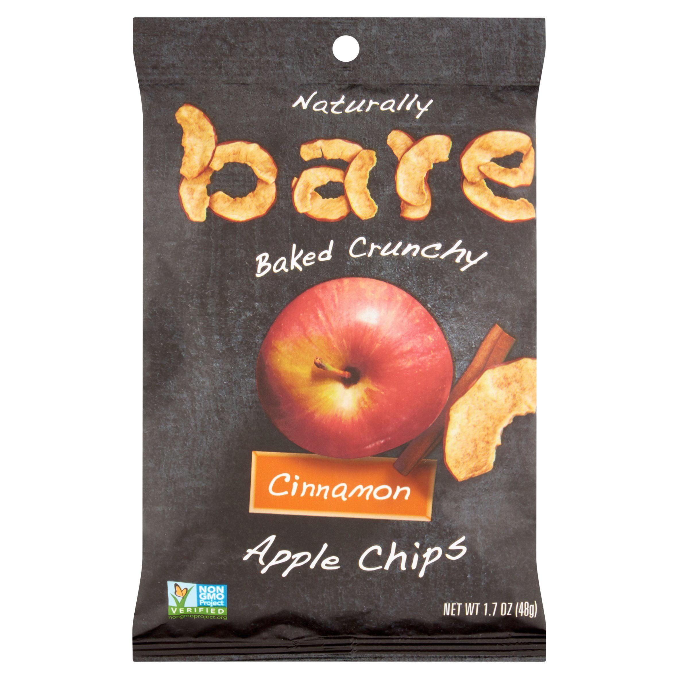 (5 Pack) Bare Cinnamon Apple Chips, 1.7 oz
