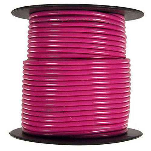 JT&T Products 163C 16 AWG Pink Primary Wire, 100' Spool