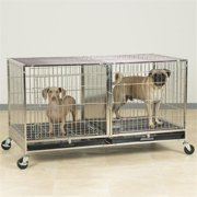 Pet Pals ZW5500 87 PS Modular Cage with Plastic Tray Stainless Steel S