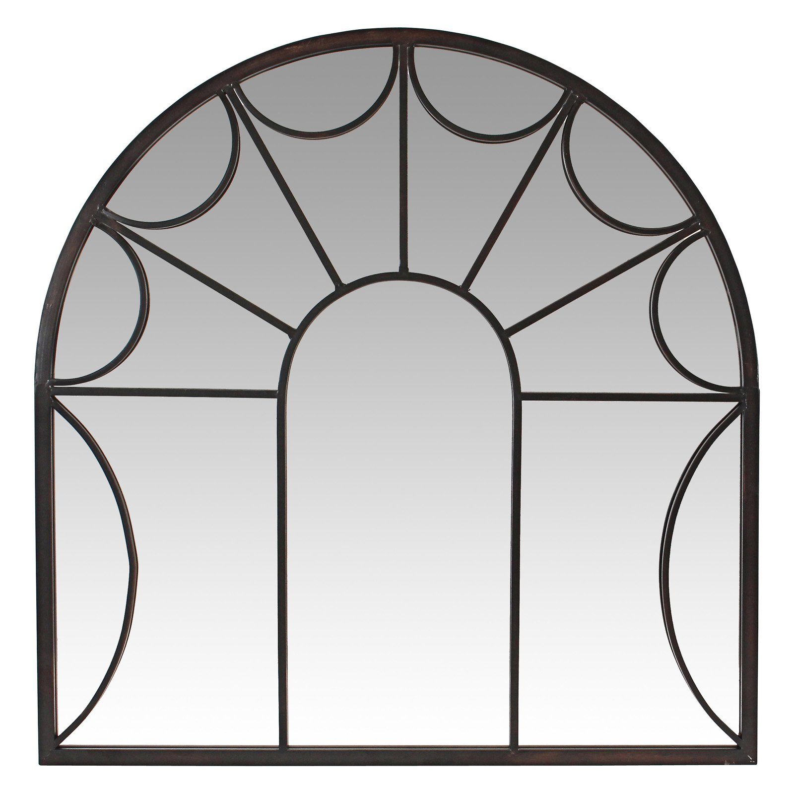 Carlita Arched Window Wall Mirror