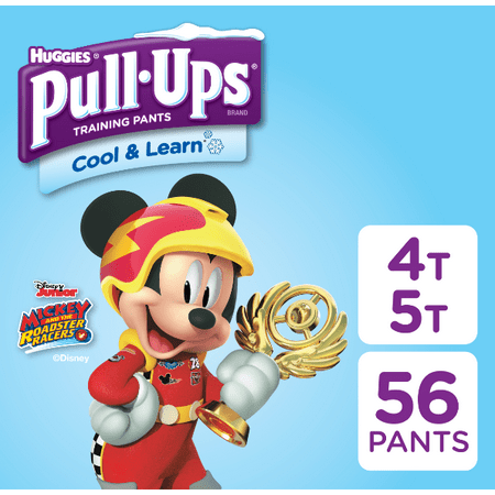 Pull-ups Boys' Cool & Learn Training Pants, Size 4T-5T, 56