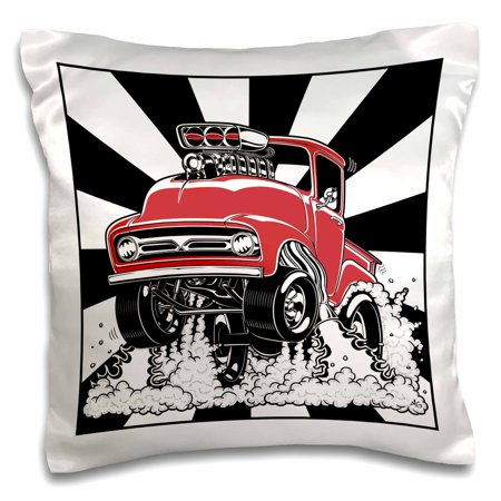 3dRose This 1956 classic blown street truck is drag racing, always a winner - Pillow Case, 16 by 16-inch