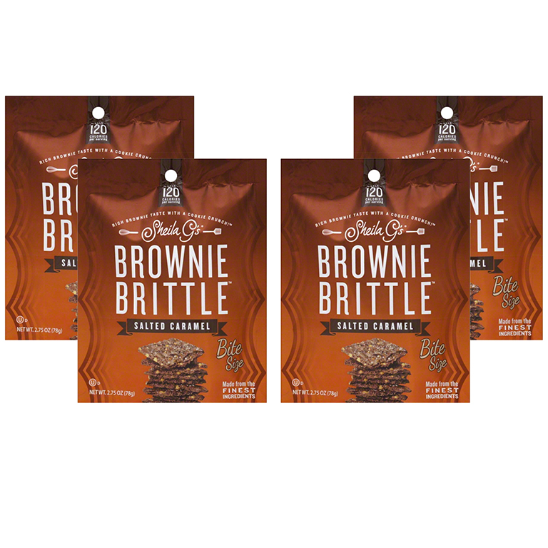 (4 Pack) 2.75oz Sheila G's Salted Caramel Brownie Brittle