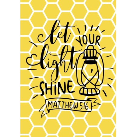 Let Your Light Shine Bible Verse Journal Notebook With Christian
