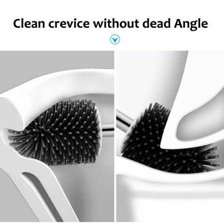 silicone soft bristle toilet brush deep cleaning brush rim