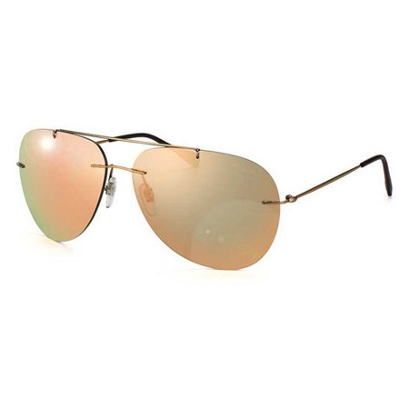 PS50PS-ROU2D2 Red Feather Men's Brown Frame Gold Lens 60mm Sunglasses (50s Sunglasses Men)