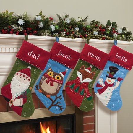 Personalized Crafty Christmas Stocking, Available in 4 Adorable - Christmas Stocking Personalized