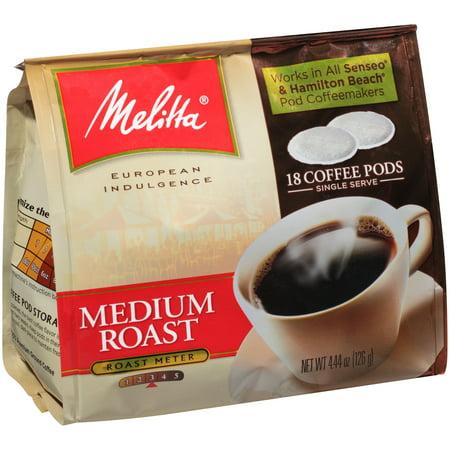 Melitta Hazelnut Coffee ((2 Pack) Melitta Coffee Pods for Senseo & Hamilton Beach Pod Brewers, Medium Roast, 18 Count Bag)