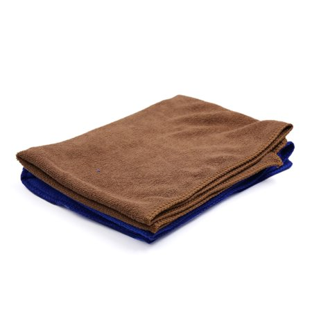 2 Pcs High Absorbing Synthetic Chamois Car Clean Cloth Towel Protective for Auto Vehicle Blue Coffee Color