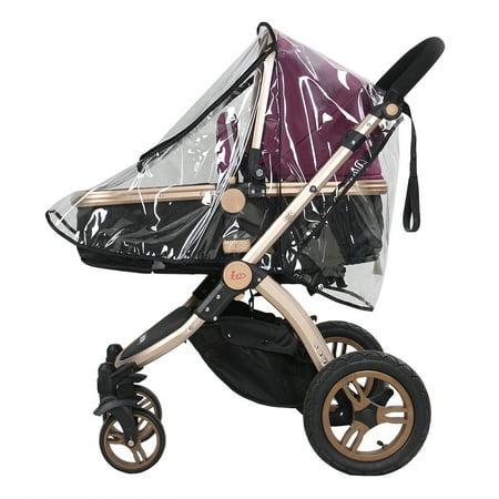 Ejoyous 1PC PVC Universal Waterproof Baby Stroller Rain Cover Dust Wind Shield Pram Accessory, Baby Pushchair Shield, Stroller Rain Cover