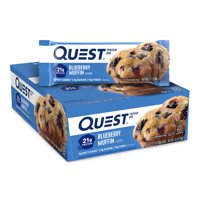 Quest Protein Bar, Blueberry Muffin, 21g Protein, 12 Ct