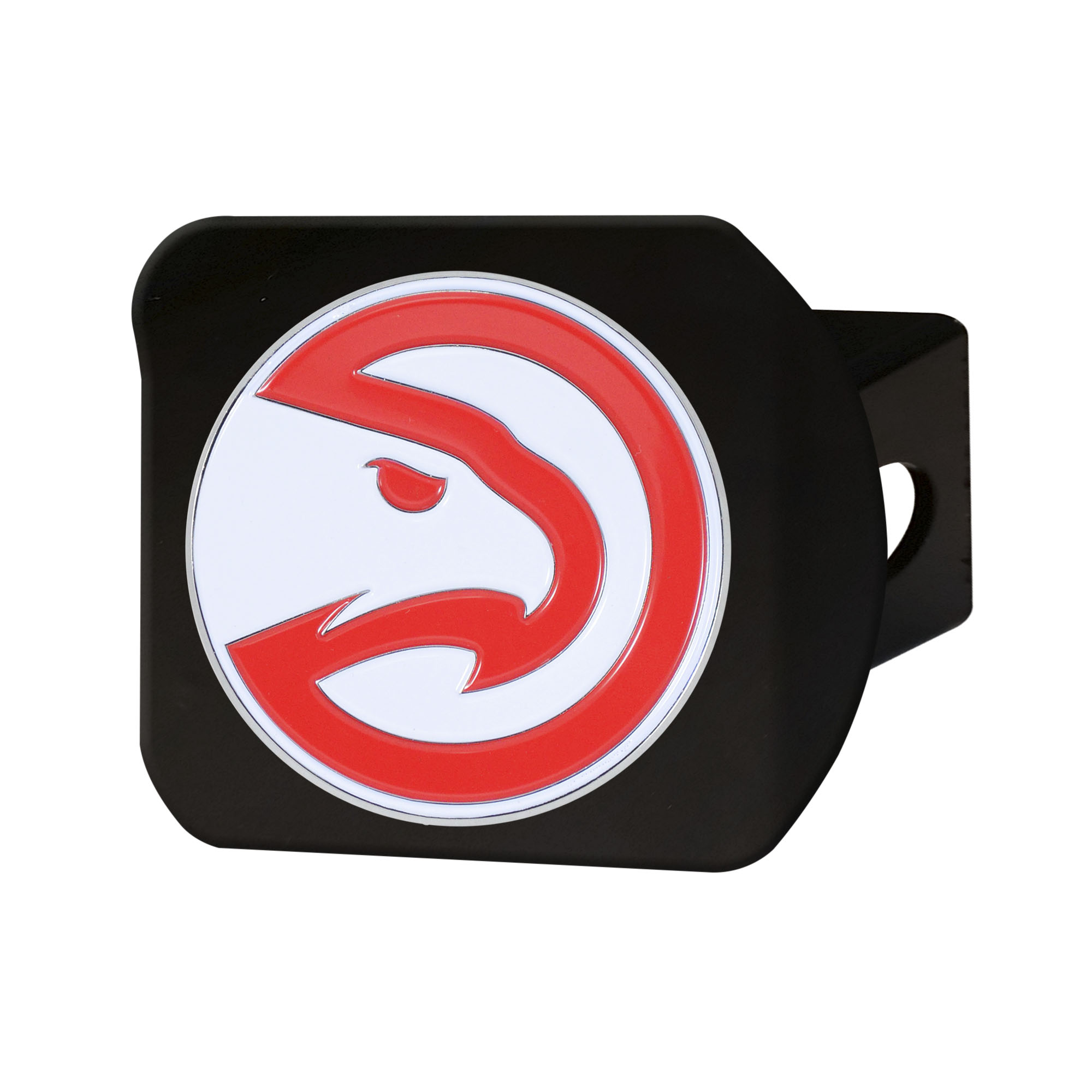 NBA Atlanta Hawks Color Class III Hitch - Black Hitch Cover Auto Accessory