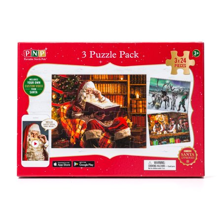 Portable North Pole Santa's Village Puzzle Pack with Personalized Video Message from Santa