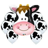 Barnyard Cow Balloon Bouquet Cow Theme Balloons