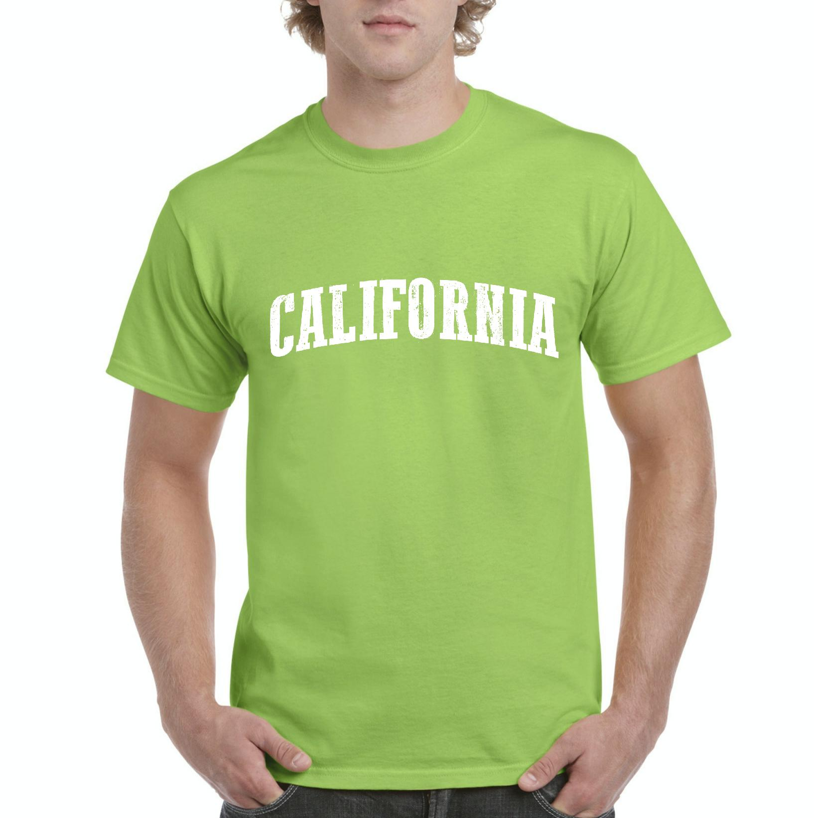 J_H_I CA California Map Flag Home of University of Los Angeles UCLA USC CSLA  Mens Shirts