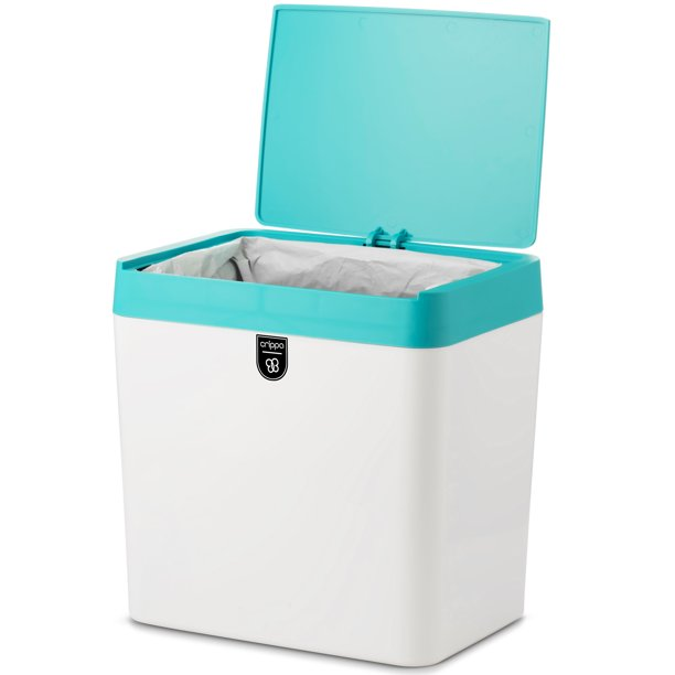 crippa small trash can with lid | compact countertop trash
