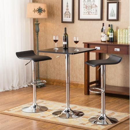 Roundhill Furniture Baxton Black Square Top Adjustable