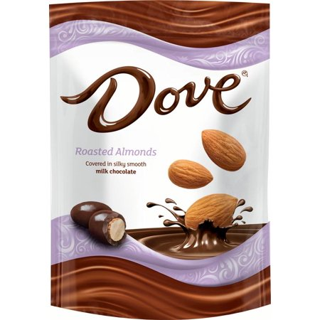 Faceplate Cover Candy - Dove, Milk Chocolate Almond Candy, 5.5 Ounce