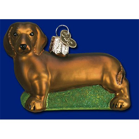 - Dachshund Blown Glass Old World Christmas Ornament Dog Decoration 12219 FREE BOX