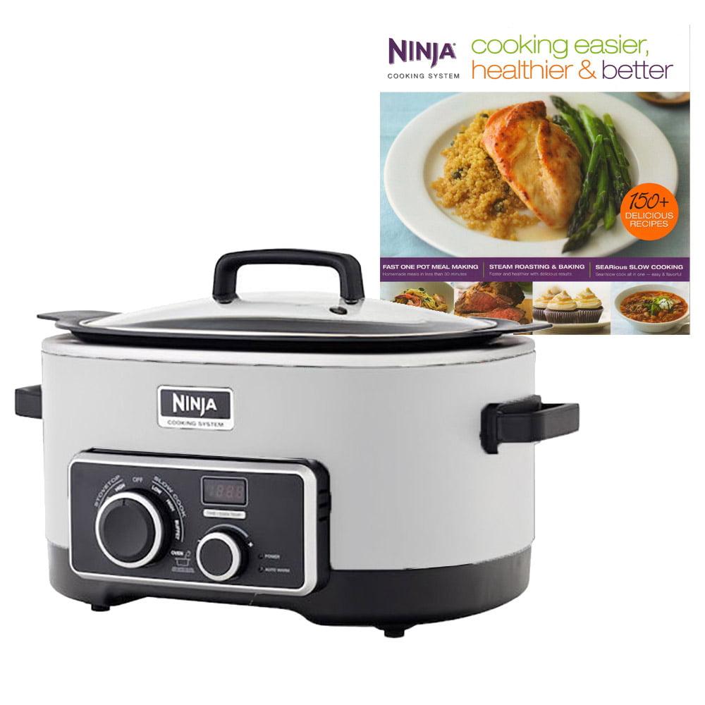 Ninja 6 Quart 3 In 1 Slow Cooker with 150 Recipe Book (Certified Refurbished)