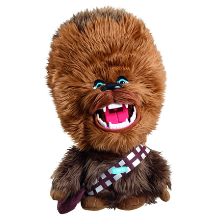 star wars 15 inch deluxe chewbacca plush (rage & roar)