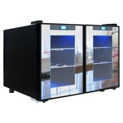 Vinotemp VT-12TSMD-2Z 12-Bottle Dual-Zone Touchscreen Thermoelectric Mirrored Wine Cooler