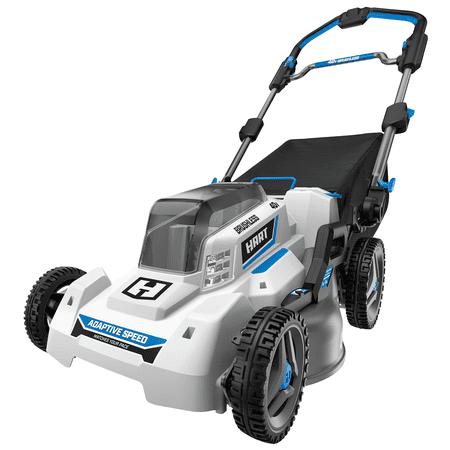 HART 40-Volt Cordless Brushless 21-inch Adaptive Speed Mower Kit, (1) 5.0Ah Lithium-Ion Battery