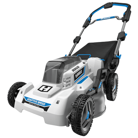 HART 40-Volt Cordless Brushless 21-inch Adaptive Speed Mower Kit, (1) 5.0Ah Lithium-Ion Battery
