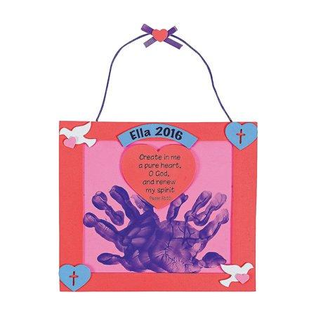 IN-48/6100-A Handprint Psalm 51:10 Valentine Keepsake Craft Kit Each - Handprint Keepsake