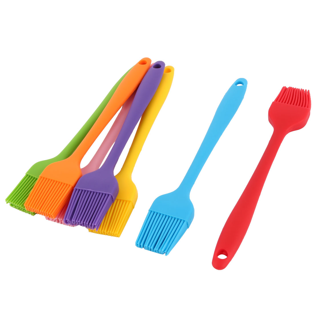 Bakery Cookie Cake Baking Tool Cream Butter Pastry Brush Assorted Color 7pcs by Unique-Bargains