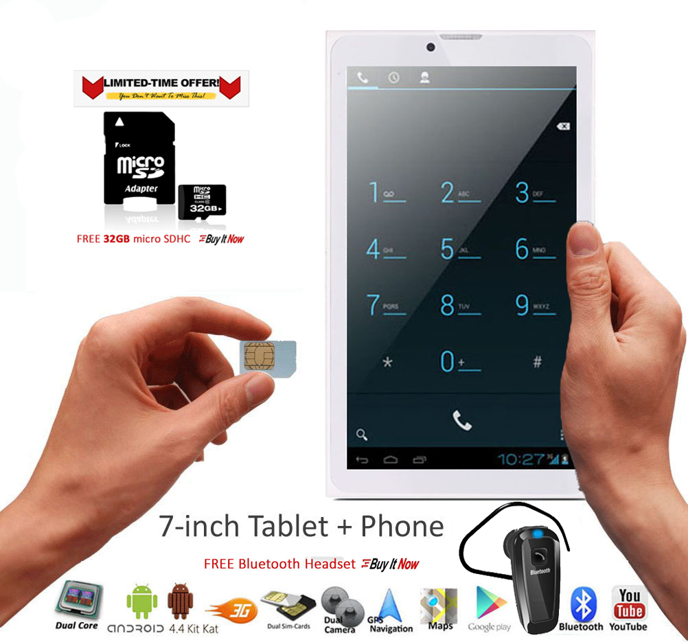 inDigi 7inch Factory Unlocked 3G Smart Phone 2-in-1 Andro...