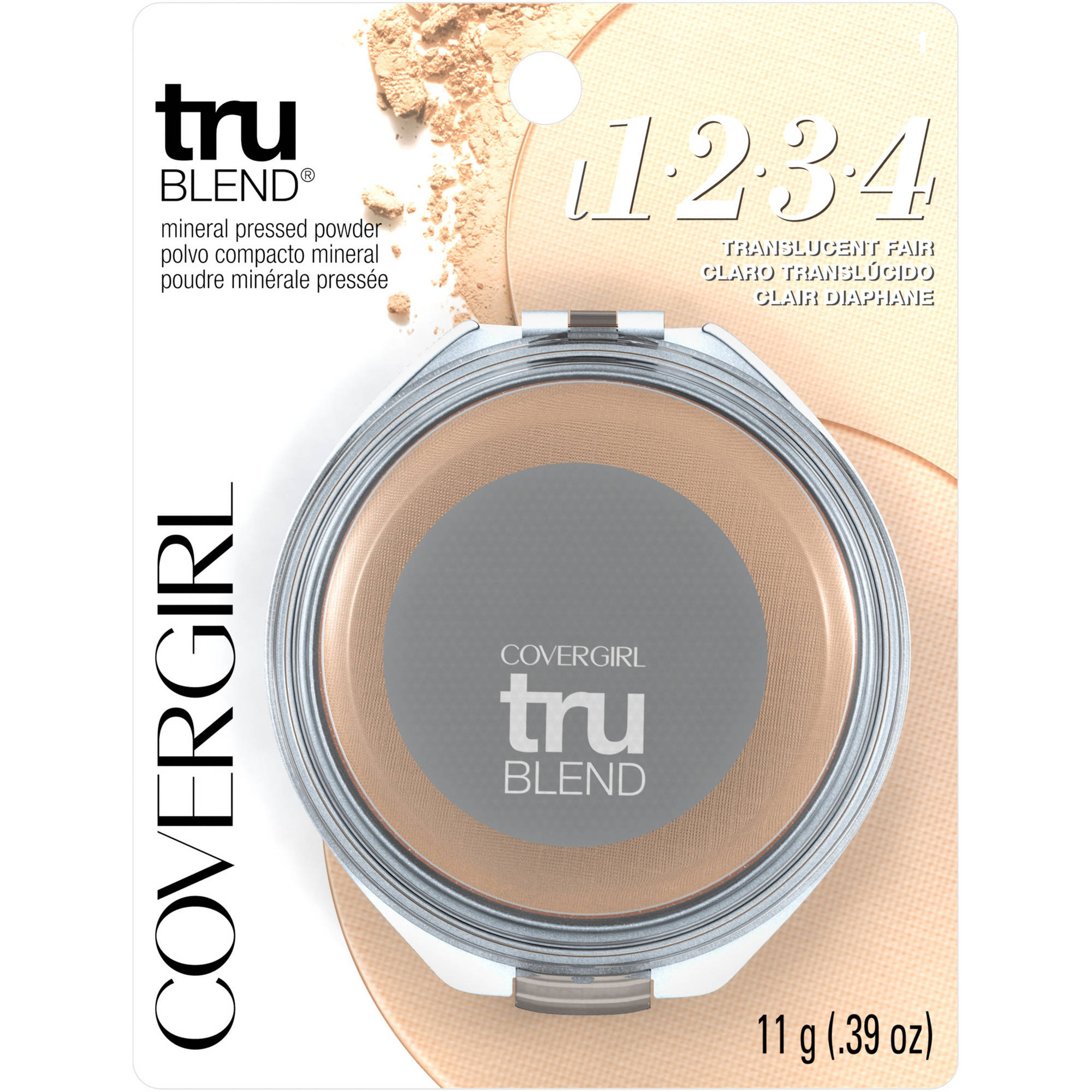 COVERGIRL truBlend Pressed Powder, Translucent Fair, .39 oz