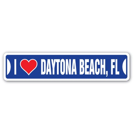 I LOVE DAYTONA BEACH, FLORIDA Street Sign fl city state us wall road décor gift ()