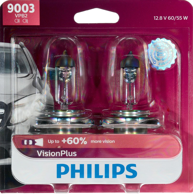 Philips VisionPlus headlight 9003, Pack of 2