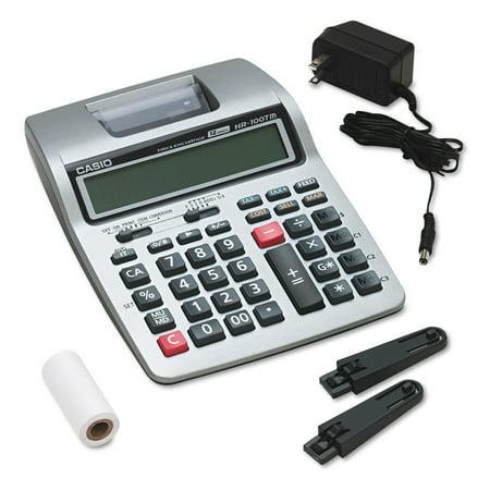 Casio HR-100TM Two-Color Portable Printing Calculator, Black