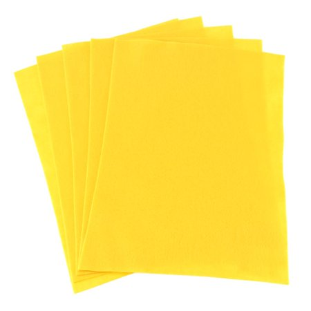 - Premium Craft Felt Sheets, 8-1/2-Inch x 11-Inch, 5-Count, Yellow