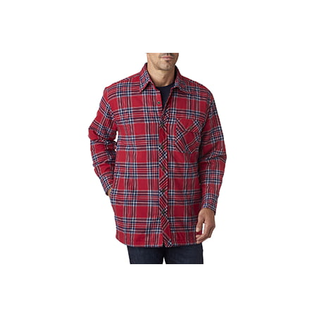 Backpacker Men's Flannel Shirt Jacket with Quilt Lining - BLUE ...