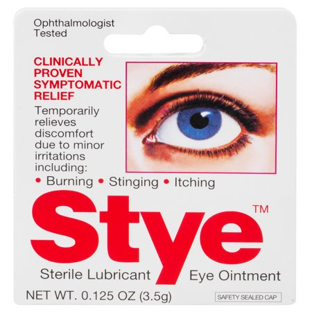 Stye Sterile Lubricant Eye Ointment, Ophthalmologist Tested, 0.125 FL OZ