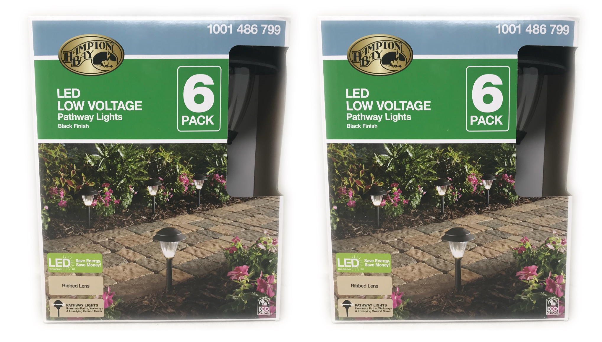 Hampton Bay Low-Voltage LED Black Pathway Lights