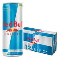 (12 Cans) Red Bull Sugar Free Energy Drink, 8.4 fl oz